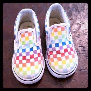Vans Classic Checker Slip-on toddler rainbow